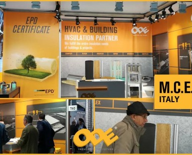 ODE INSULATION AT THE MILAN MCE FAIR