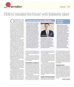 "ODE to ""insulate the future"" with Eskisehir plant."