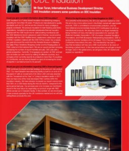 ODE Insulation - Mr Ozan Turan, ODE Insulation answers some questions on ODE Insulation