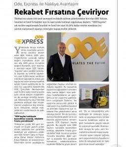 ODE, Express ile Nakliye Avantajını Rekabet Fırsatına Çeviriyor