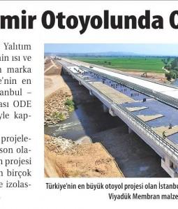 İstanbul - İzmir Otoyolunda ODE İmzası