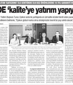 ODE 'Kalite' ye Yatırım Yapıyor