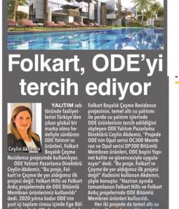 FOLKART ODE'Yİ TERCİH EDİYOR
