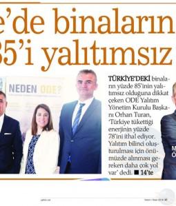 Türkiye'de binaların yüzde 85'i yalıtımsız