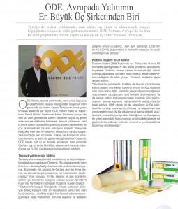 ODE, Avrupa'da Yalıtımın En Büyük Üç Şirketinden Biri