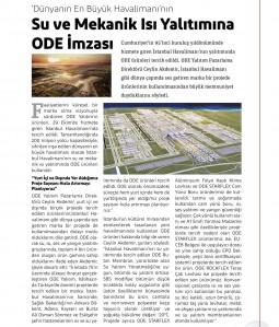 Dünyanın En Büyük Havalimanı'nın Su ve Mekanik Isı Yalıtımına ODE İmzası